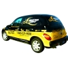 Black and yellow PT Cruisers were for a fleet delivery of 4 cars.