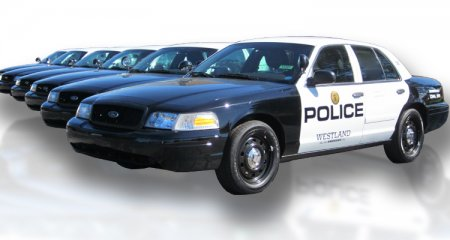 Police and Municipal Wraps - Upper Level Graphics - Westland_Police_Multiple_Cars