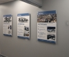 UV printed aluminum composite panel mounted with standoffs