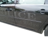 Matte black vinyl on a gloss black vehicle makes a very subtle look.